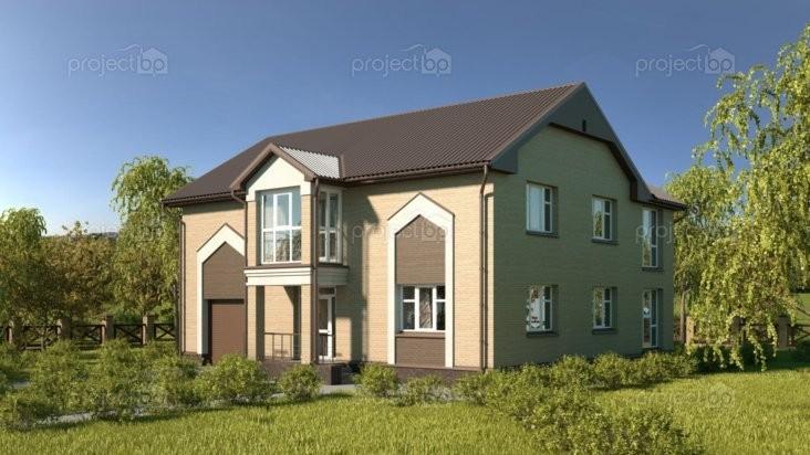 Проект дома с совмещенным гаражом 212-A